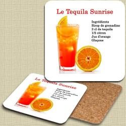 Sous verre Tequila Sunrise