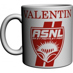 Mug tasse ASNL personnalisé avec prénom