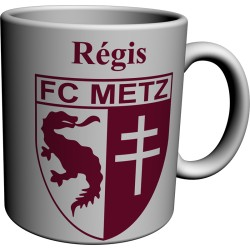 Mug Tasse FC Metz personnalisé avec prénom